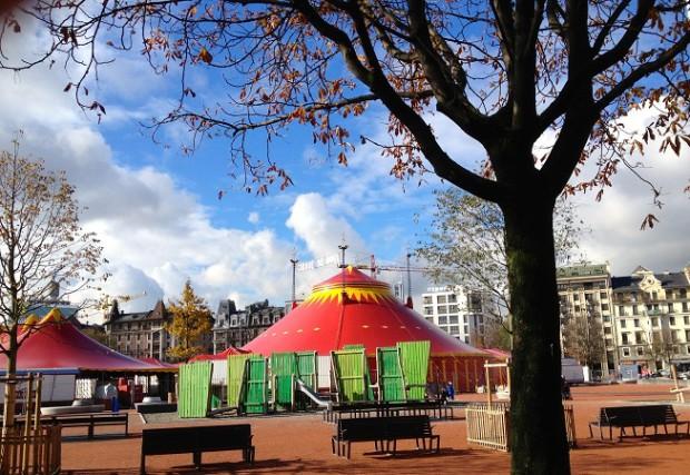 The circus and playground in Plainpalais © photo Linda Scott