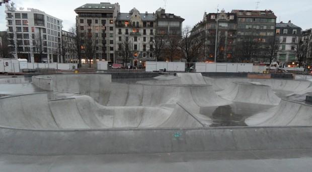 Europe's largest skatepark in Geneva's Plainpalais © Geneva Family Diaries.net
