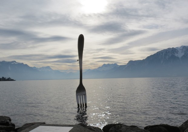 Fork by Jean-Pierre Zaugg, realisation by Georges Favre - Photo © Genevafamilydiaries.net