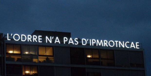 Neon Parallax, Geneva Ann Veronica Janssens installation in Plainpalais (photo © Geneva Family Diaries)