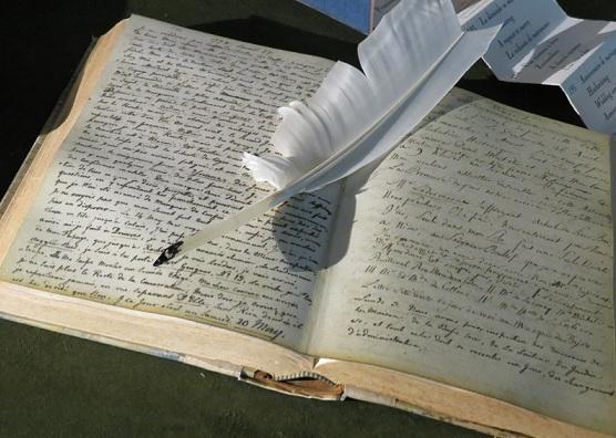 The Baron's original journals are also on display - photo © genevafamilydiaries.net