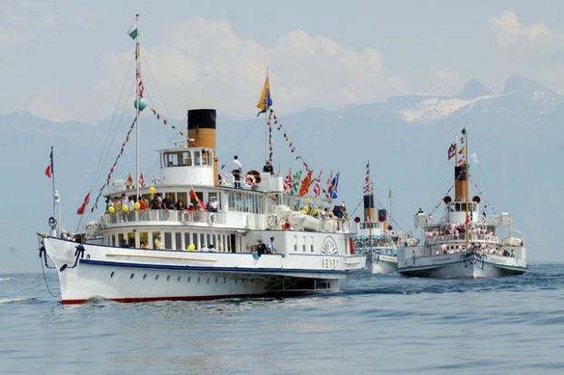 Nyon's naval parade © Compagnie Générale de Navigation