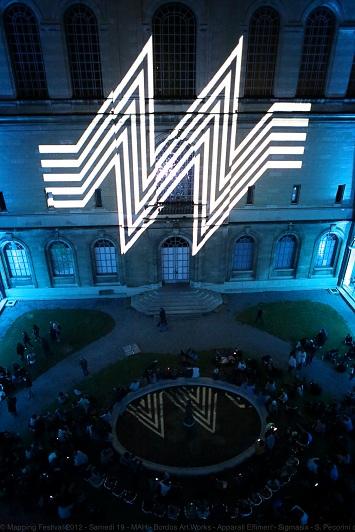 "Mapping performance at Geneva's MAH - ""La Nuit des musées de Genève"" photo © S. Pecorini"