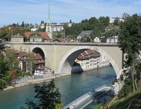 A view of Bern from the river Aare © genevafamilydiaries.net