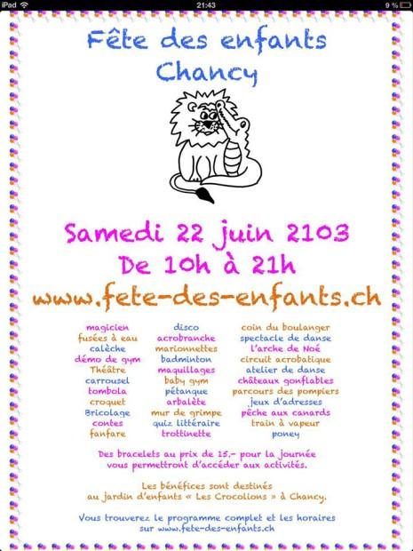 © Fête Des Enfants Chancy