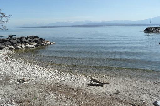A small but perfect lake beach © genevafamilydiaries.net