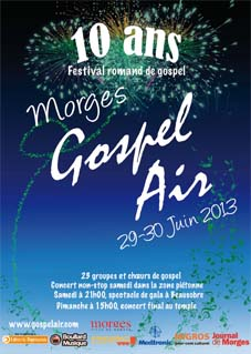 © Festival Gospel Air, Morges (VD)