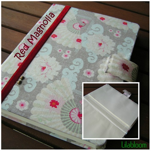Red Magnolia © Lilabloom handmade notebooks