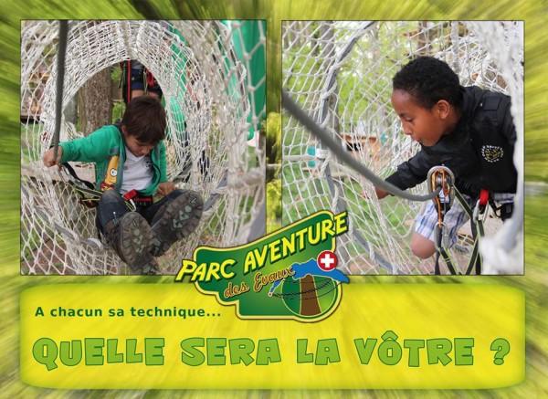 What's your secret climbing tecnique ? © Parc Aventure des Evaux, Onex.