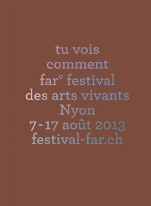 © far° festival des arts vivants, Nyon