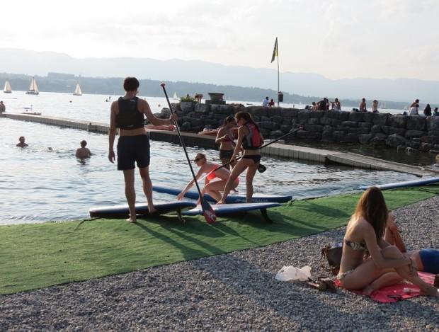 Summer fun at Tropical Windsurfing, Geneva © genevafamilydiaries.net