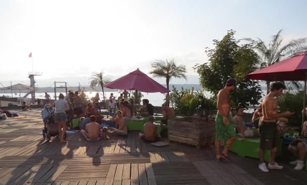 Enjoy the sunset at Tropical Windsurfing, Geneva © genevafamilydiaries.net