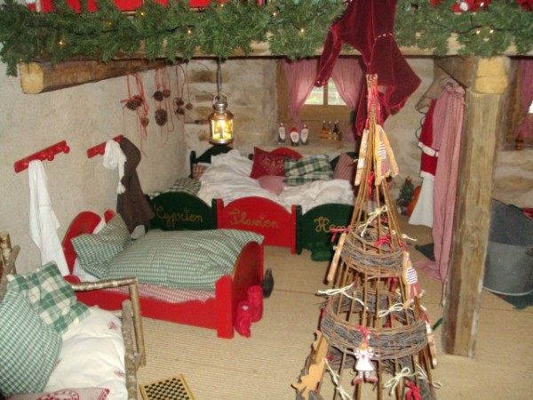 The elves' bedroom at Santa's house in Andilly - photo © genevafamilydiaries.net