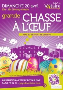 Grande chasse à l'oeuf, dimanche de Pâques ©  Ville de Ferney Voltaire, France.