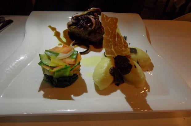 Beef with truffles, grilled radicchio & balsamicPhoto © genevafamilydiaries.net