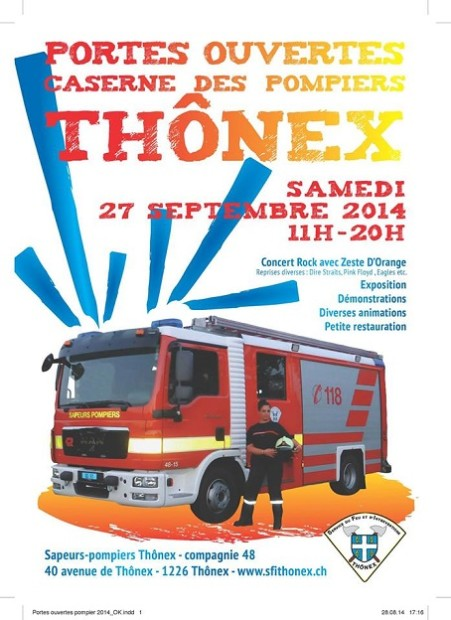 © Copyright 2014 Sapeurs Pompiers,  Thônex
