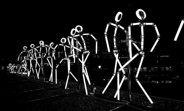 """© Festival Lausanne Lumières """"Keyframes"""" - Bâtiment Hug Musique"""