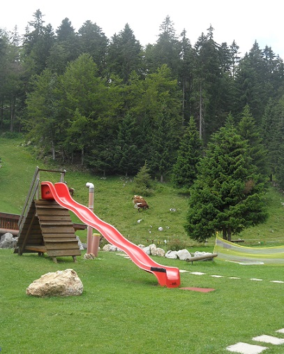 Playground with authentic Swiss views! Photo © genevafamilydiaries.net