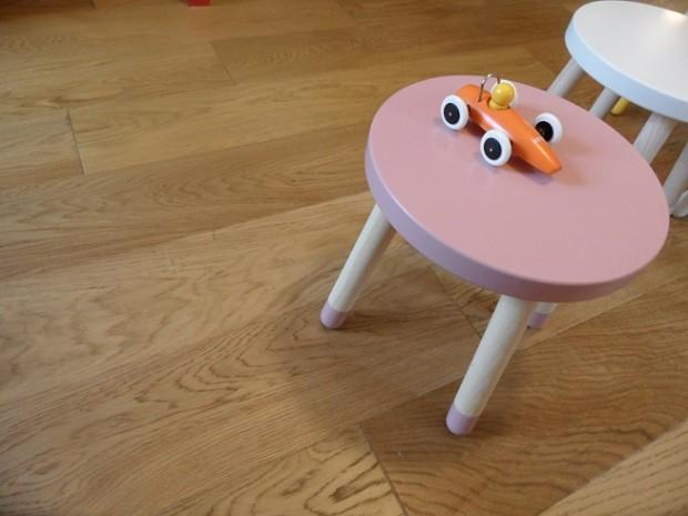 Flexa Play wooden stools. Photo © genevafamilydiaries.net