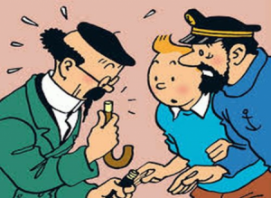 """L'affaire Tournesol""  © Hergé"