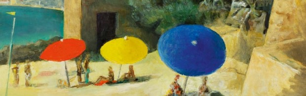"""Parasols"" by Théodore Strawinsky - image courtesy of Musée de Carouge"