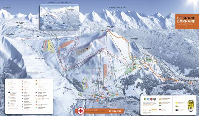 Domaine skiable alpin du Grand-Bornand. Image  © www.ski-legrandbornand.com