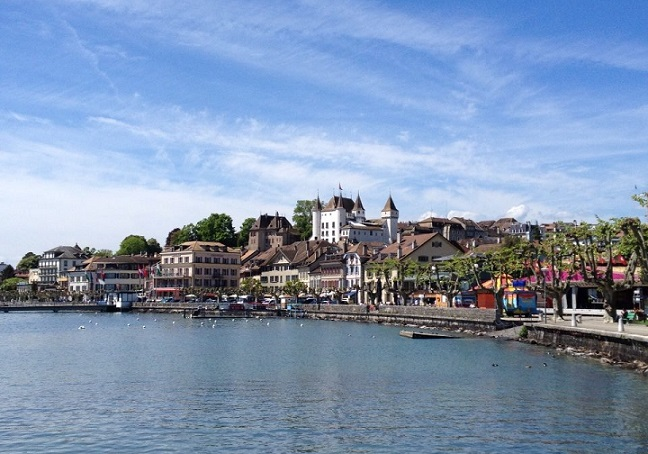 A stunning view of Nyon castle. Photo © genevafamilydiaries.net