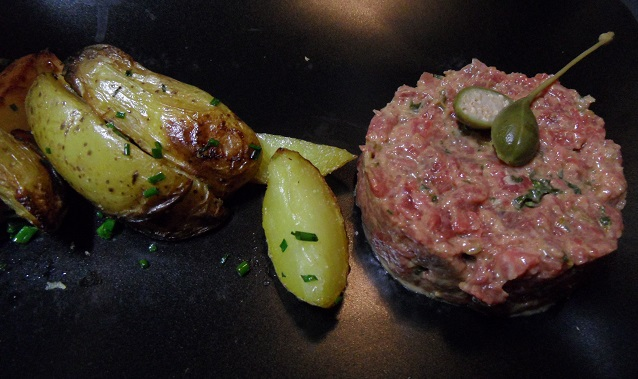 You can't beat a classic steak tartare. Photo © genevafamilydiaries.net