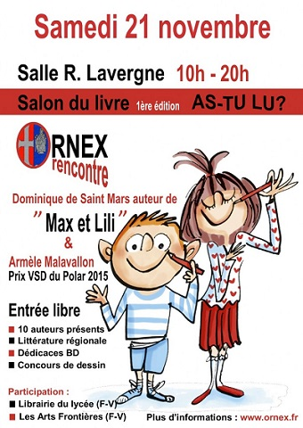 © 2015 Salon du livre, Ornex (France).