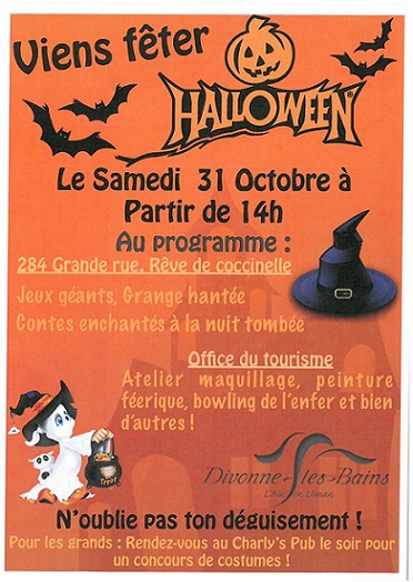 Halloween events geneva family diaries - Office de tourisme divonne ...