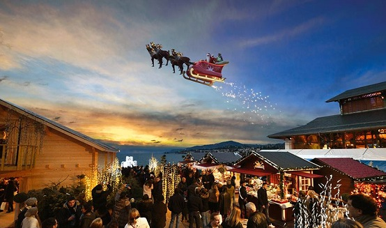 Flying Santa! © 2014 Montreux Noël