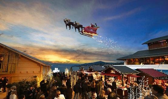 Flying Santa! © 2014 Montreux Noël