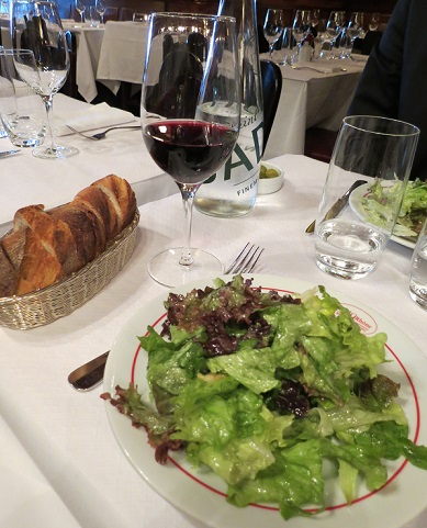 Our green salad starter at Le 49 Rhône, Geneva. Photo © 2015 genevafamilydiaries.net