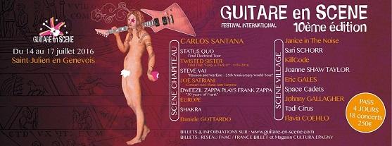 © 2016 Guitare en Scene, St Julien-en-Genevois (France)