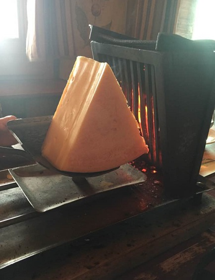 Traditional raclette machine. Photo © 2016 genevafamilydiaries.net