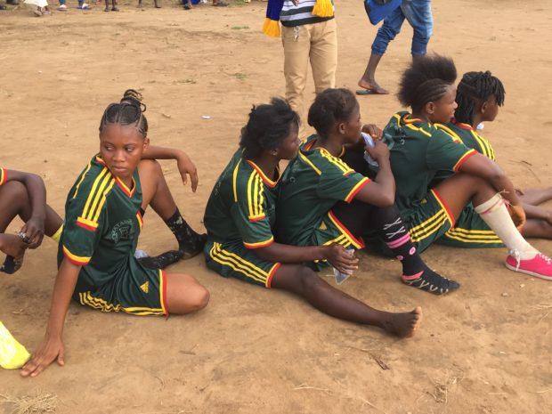 Girls football team in Sierra Leone with bare feet Reboot2Kids